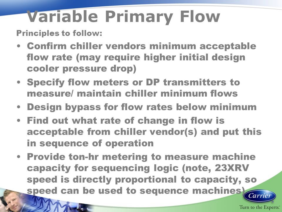Variable Primary Flow Principles to follow:
