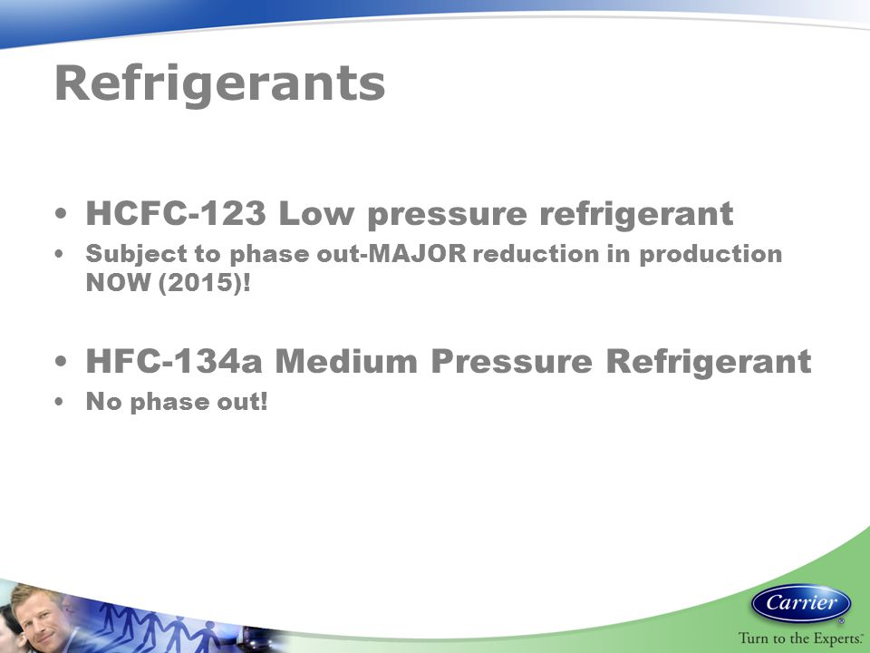 Refrigerants HCFC-123 Low pressure refrigerant