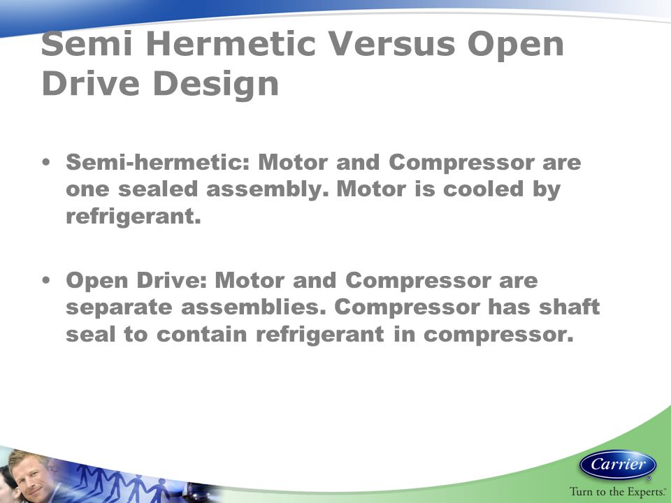 Semi Hermetic Versus Open Drive Design