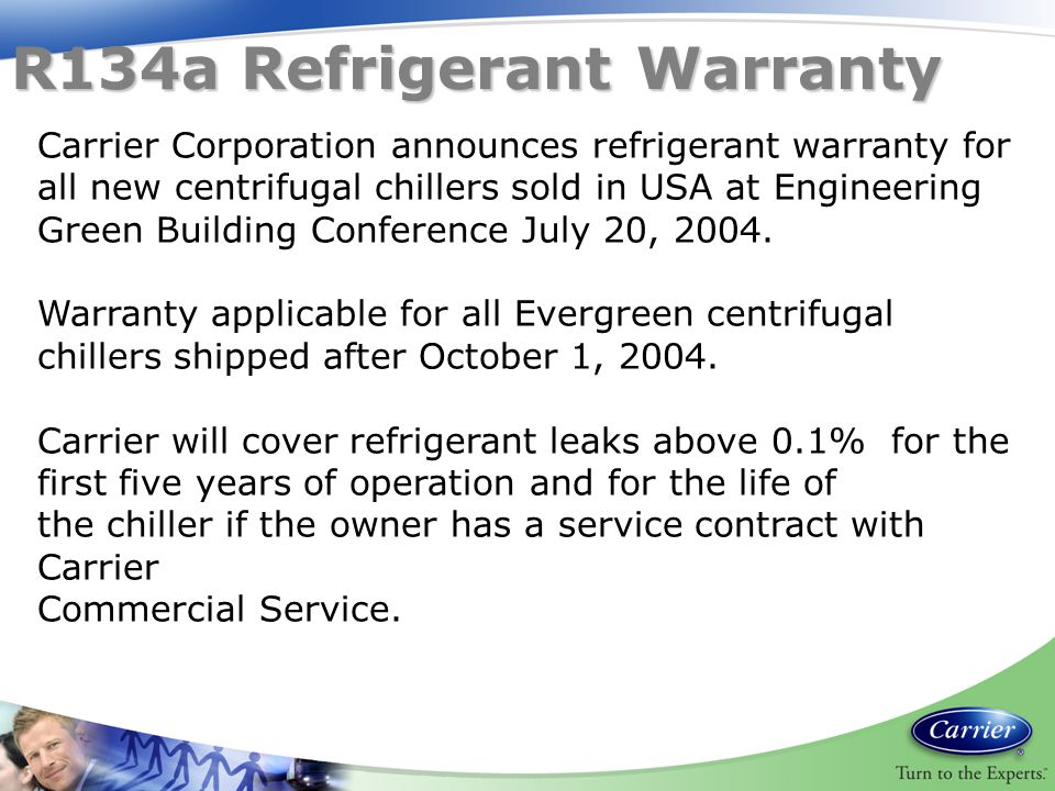 R134a Refrigerant Warranty