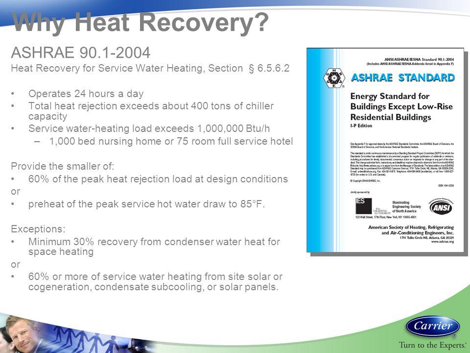 Why Heat Recovery ASHRAE 90.1-2004