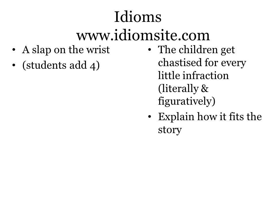 Idioms www.idiomsite.com