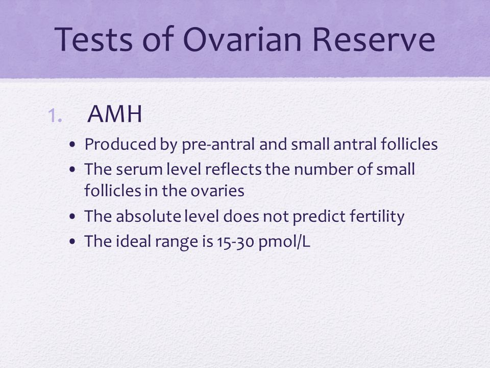 Tests of Ovarian Reserve