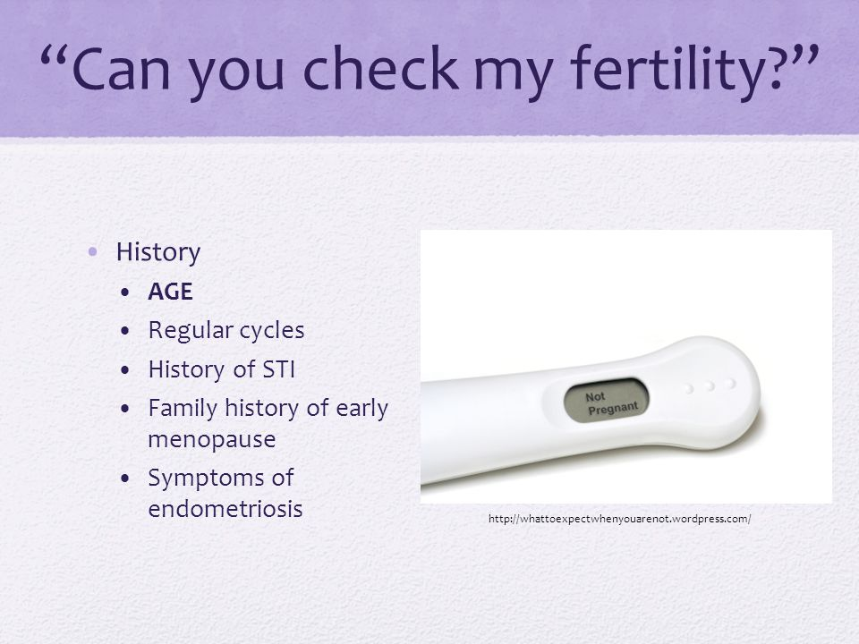 Can you check my fertility