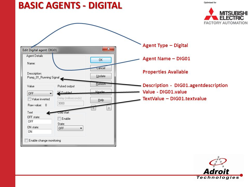 BASIC AGENTS - DIGITAL Agent Type – Digital Agent Name – DIG01