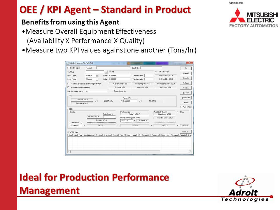 OEE / KPI Agent – Standard in Product