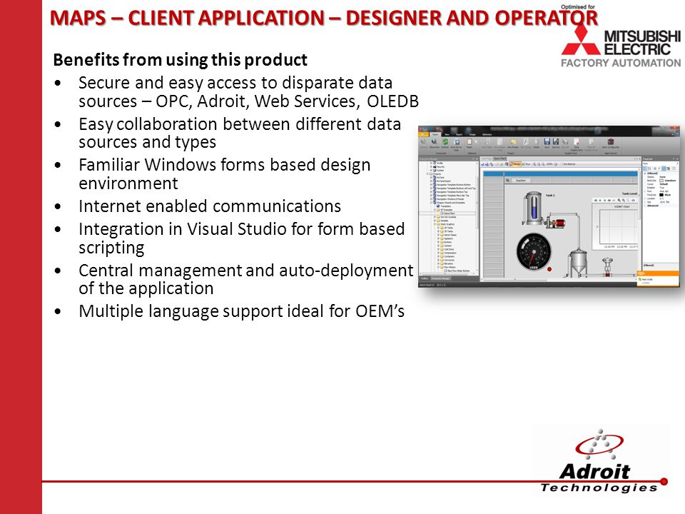 MAPS – CLIENT APPLICATION – DESIGNER AND OPERATOR