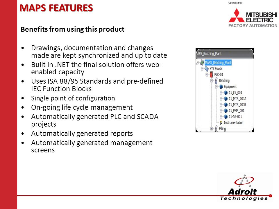 MAPS FEATURES Benefits from using this product