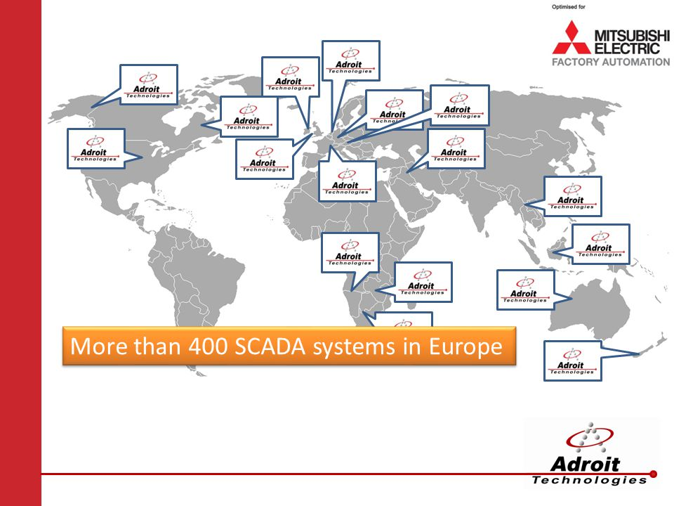More than 400 SCADA systems in Europe