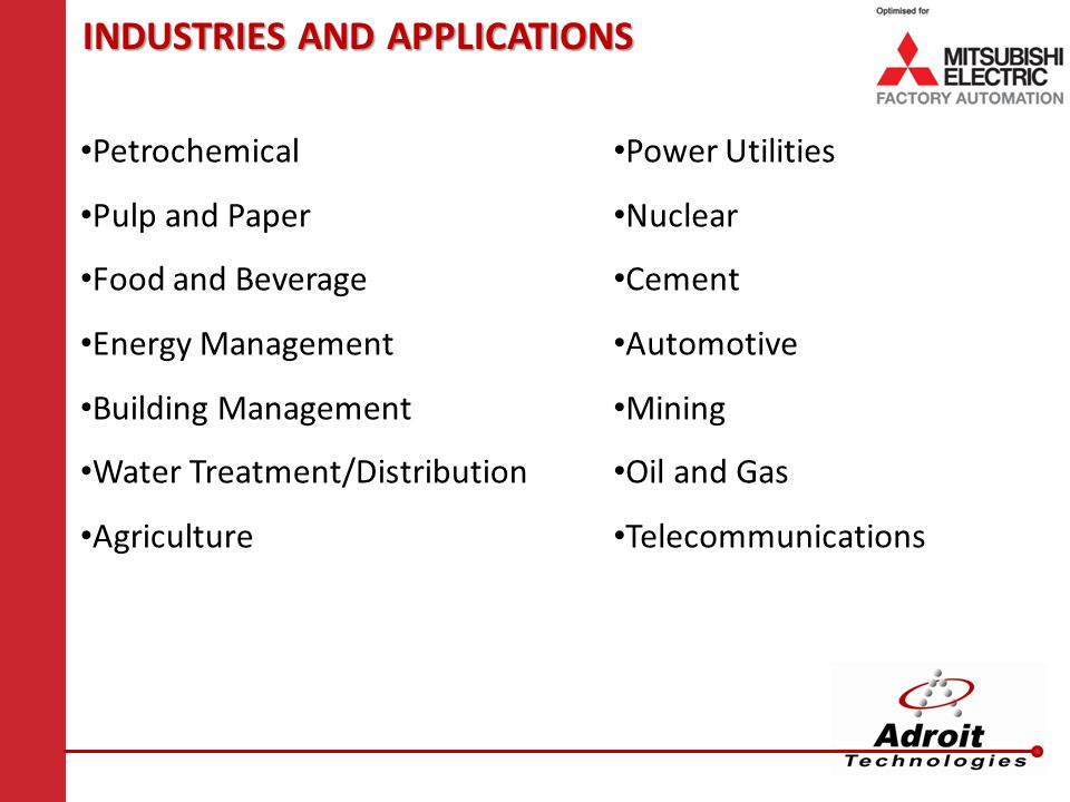 INDUSTRIES AND APPLICATIONS