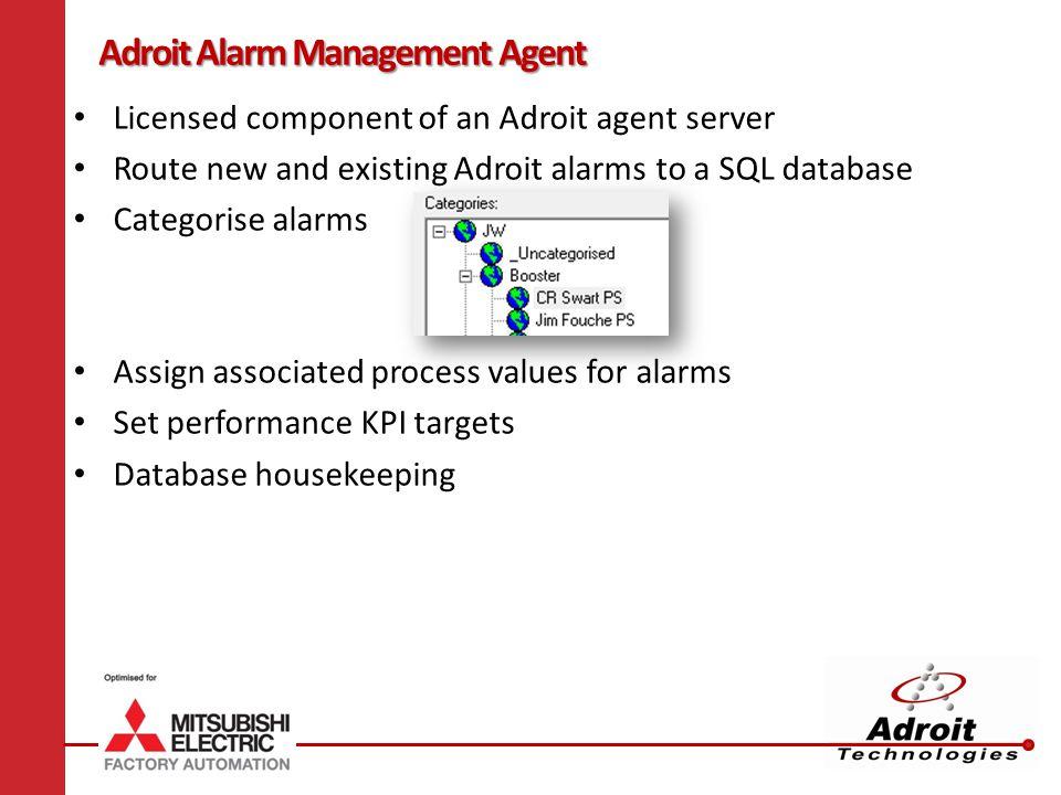 Adroit Alarm Management Agent