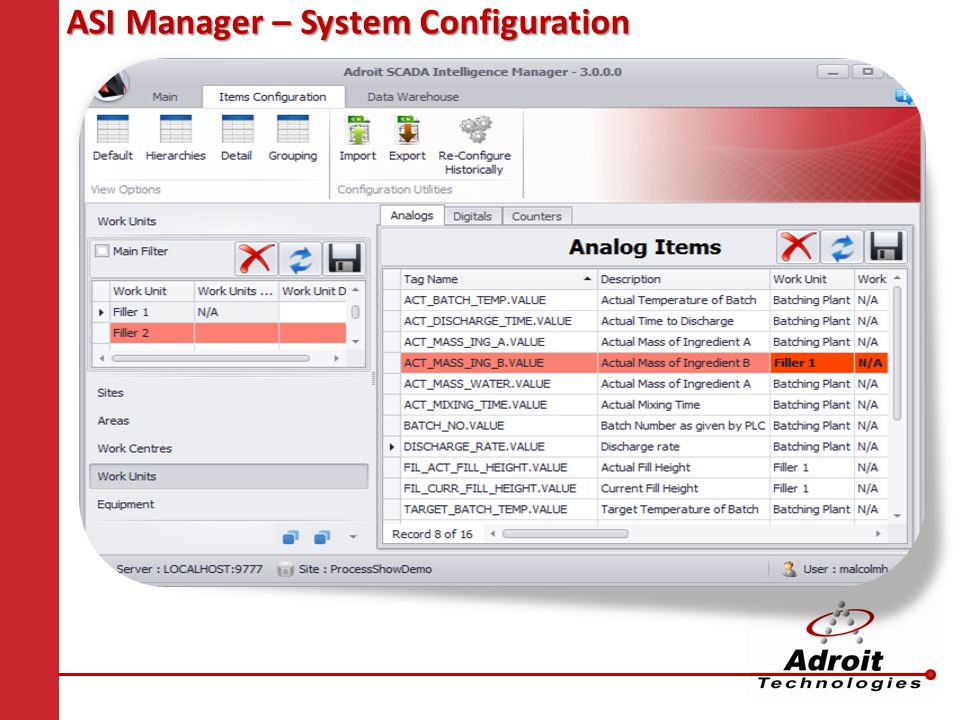 ASI Manager – System Configuration