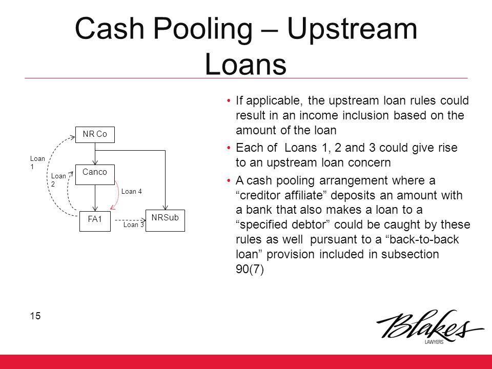 Cash Pooling – Upstream Loans