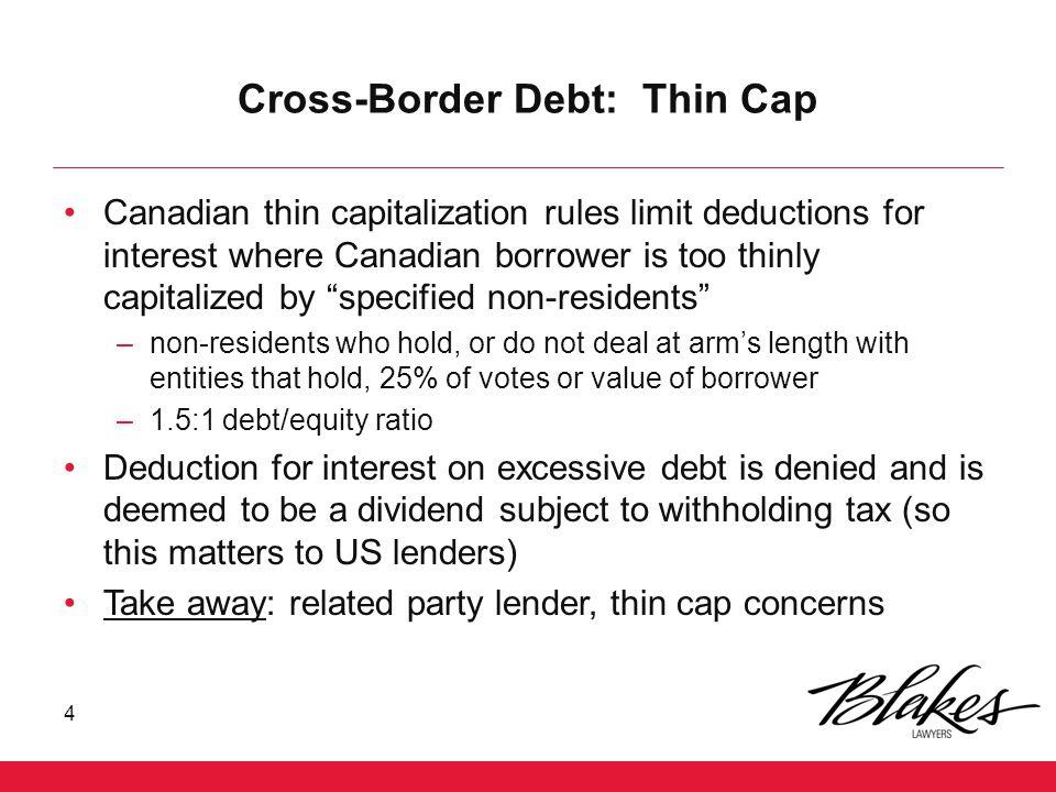 Cross-Border Debt: Thin Cap