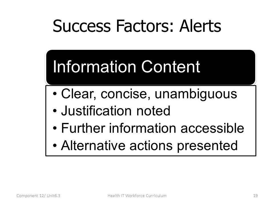 Success Factors: Alerts