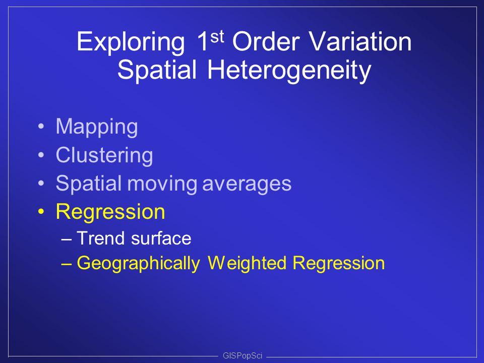 Exploring 1st Order Variation Spatial Heterogeneity