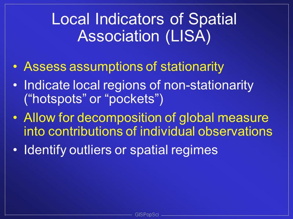 Local Indicators of Spatial Association (LISA)