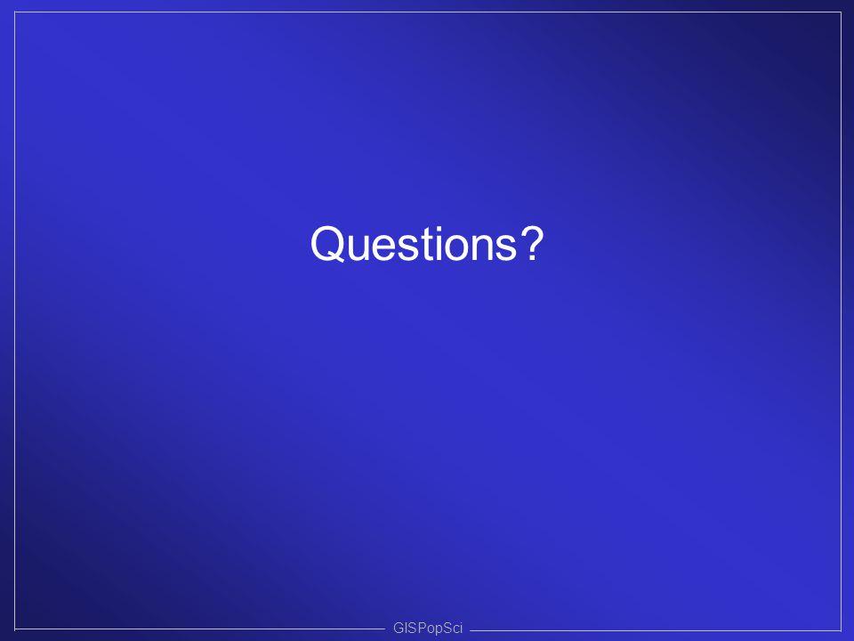 Questions GISPopSci