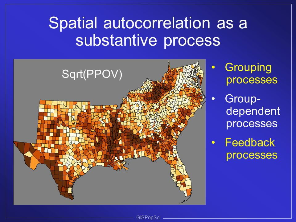 Spatial autocorrelation as a substantive process