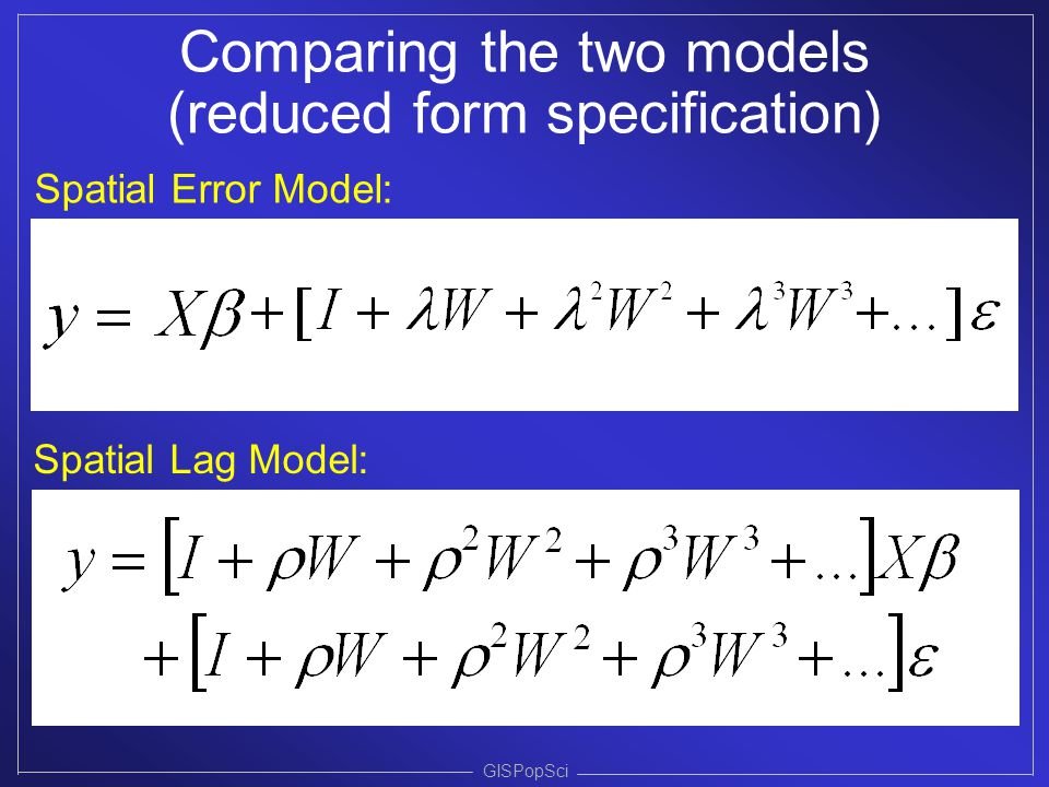 Spatial Regression Modeling - ppt video online download