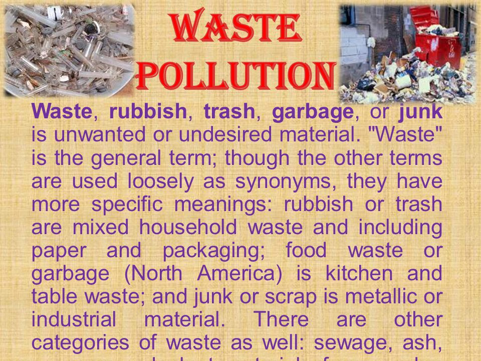 WASTE POLLUTION