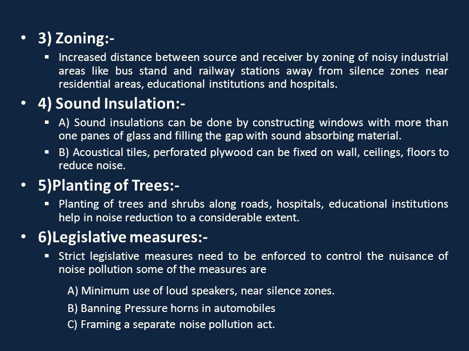 6)Legislative measures:-