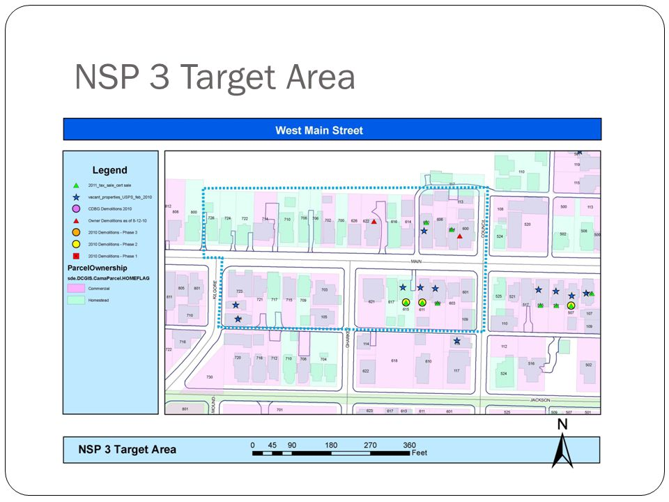 NSP 3 Target Area