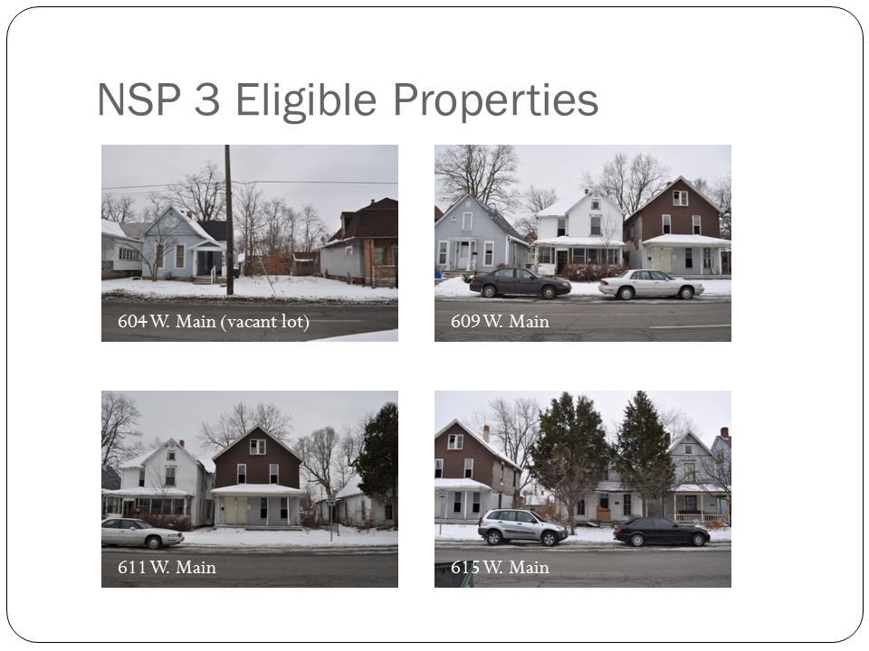 NSP 3 Eligible Properties