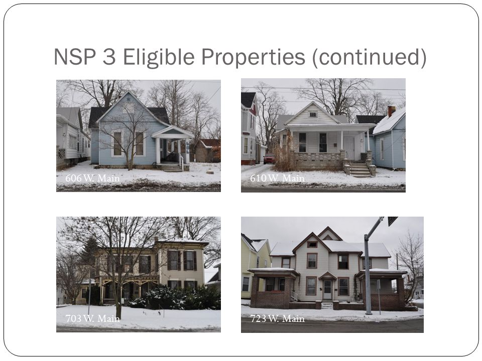 NSP 3 Eligible Properties (continued)