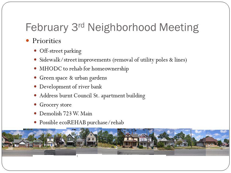 February 3rd Neighborhood Meeting