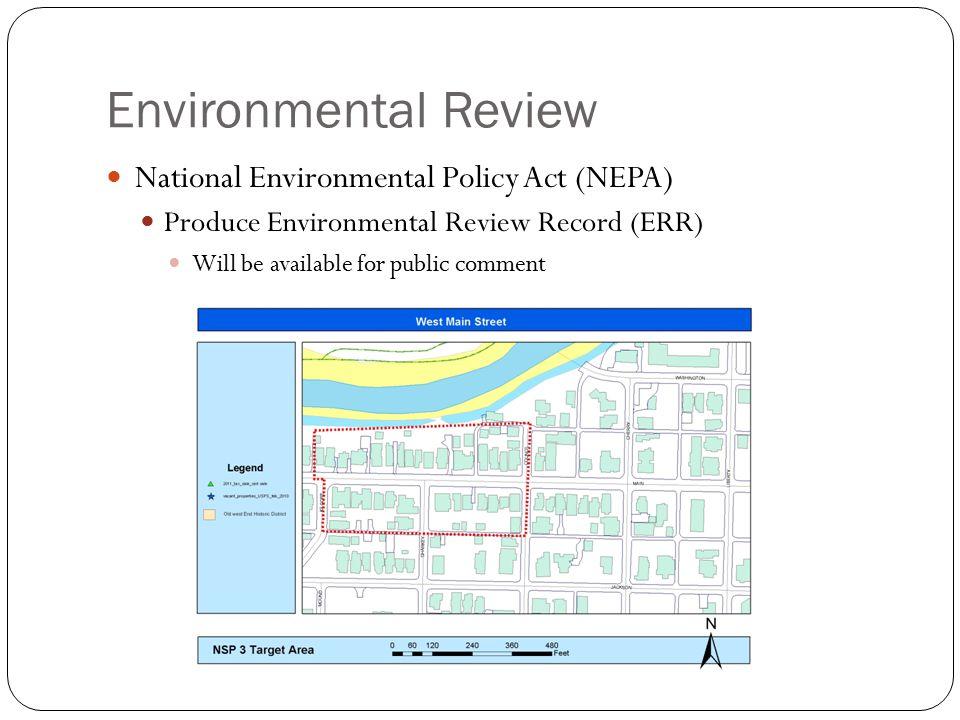 Environmental Review National Environmental Policy Act (NEPA)