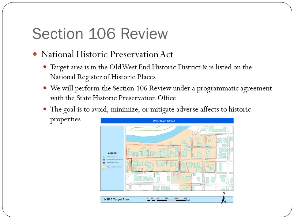 Section 106 Review National Historic Preservation Act