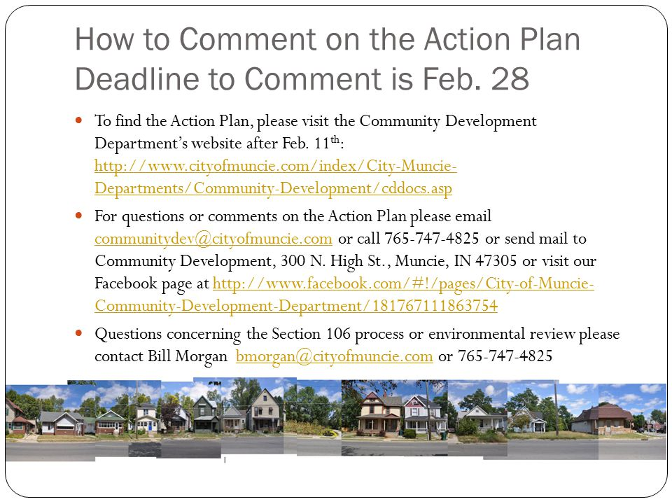 How to Comment on the Action Plan Deadline to Comment is Feb. 28