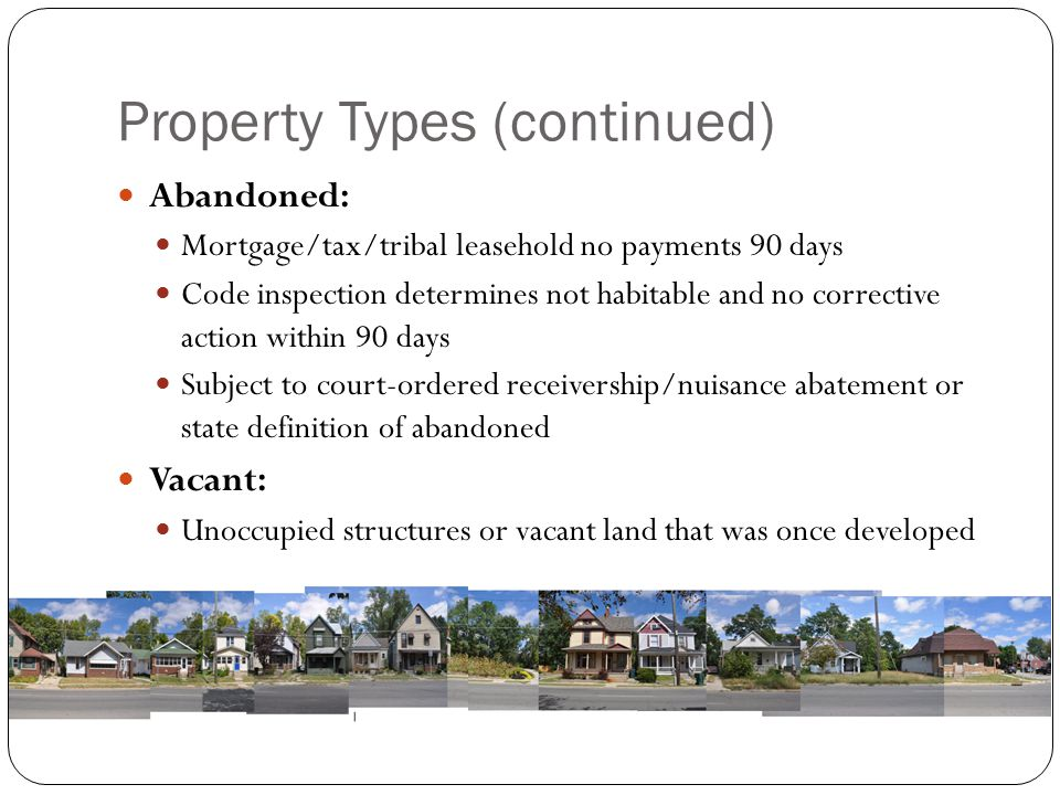 Property Types (continued)