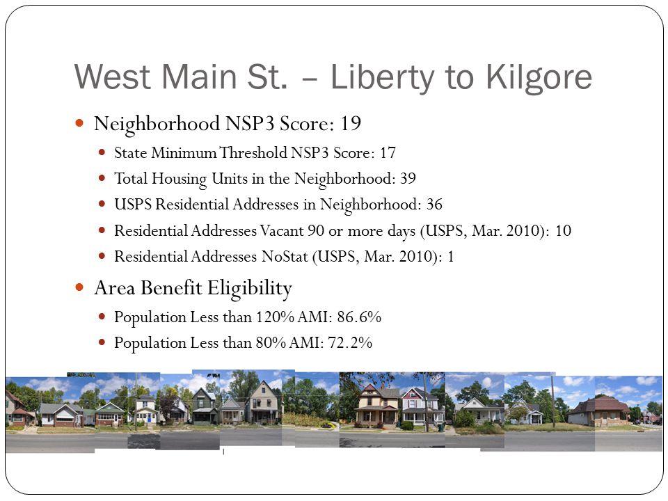 West Main St. – Liberty to Kilgore