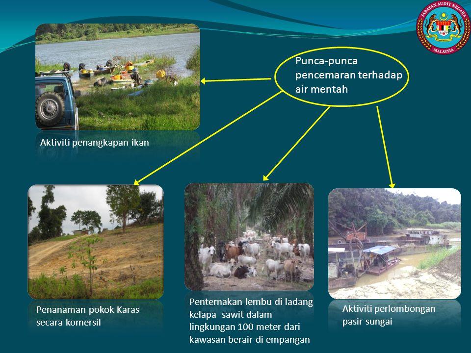 Punca-punca pencemaran terhadap air mentah