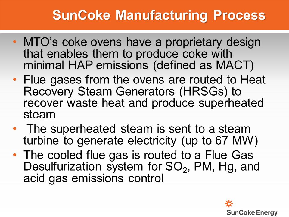 SunCoke Manufacturing Process