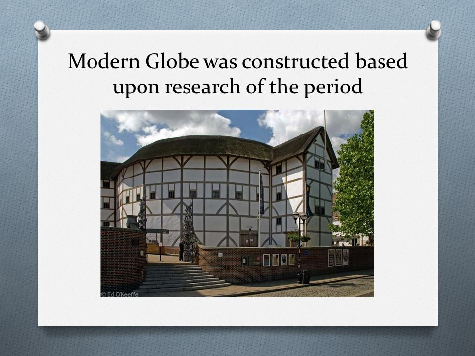 Modern Globe was constructed based upon research of the period