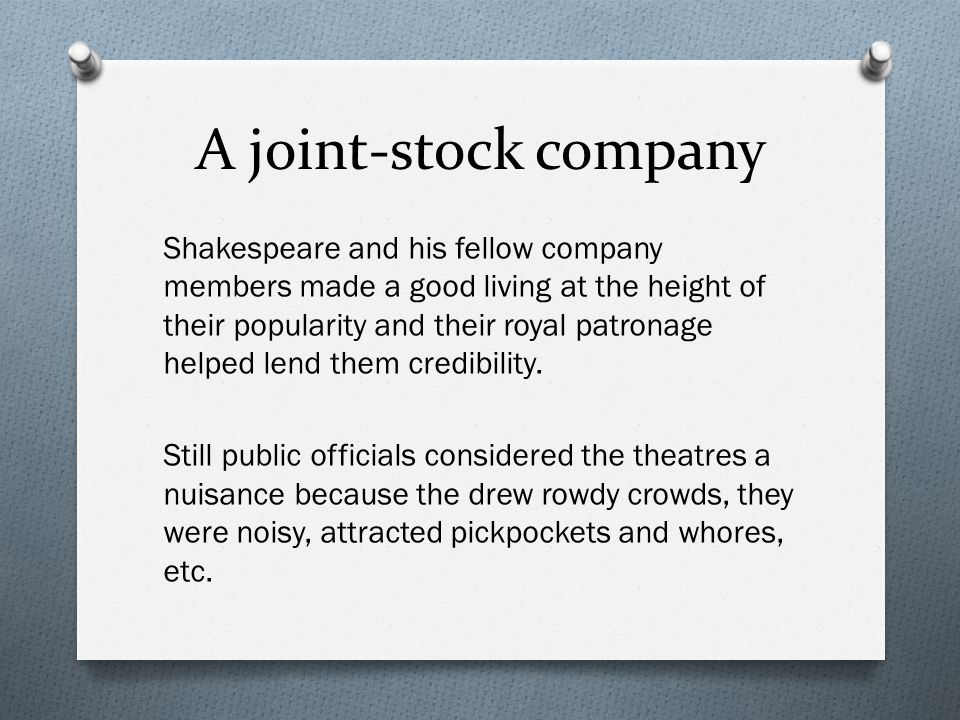 A joint-stock company