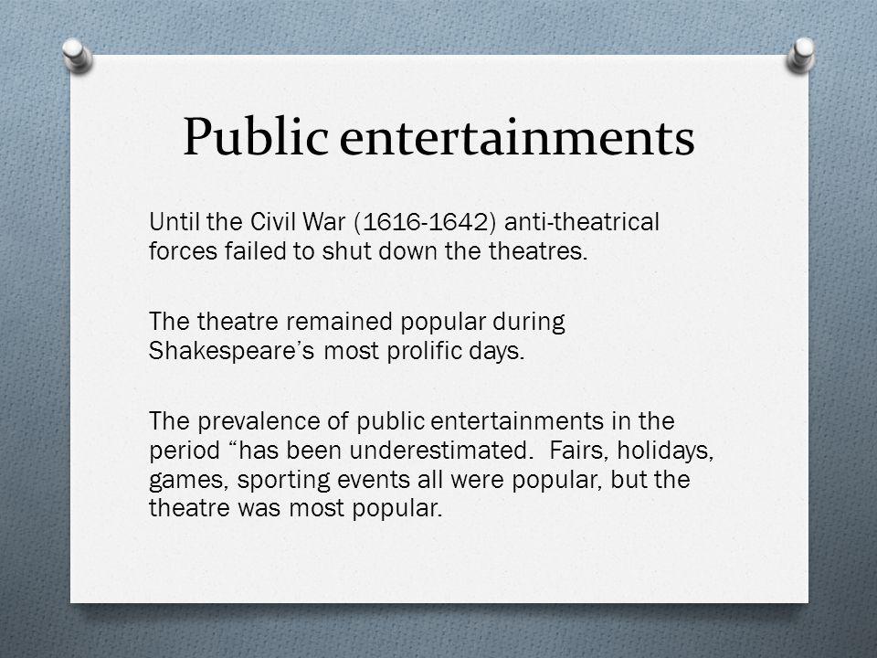 Public entertainments