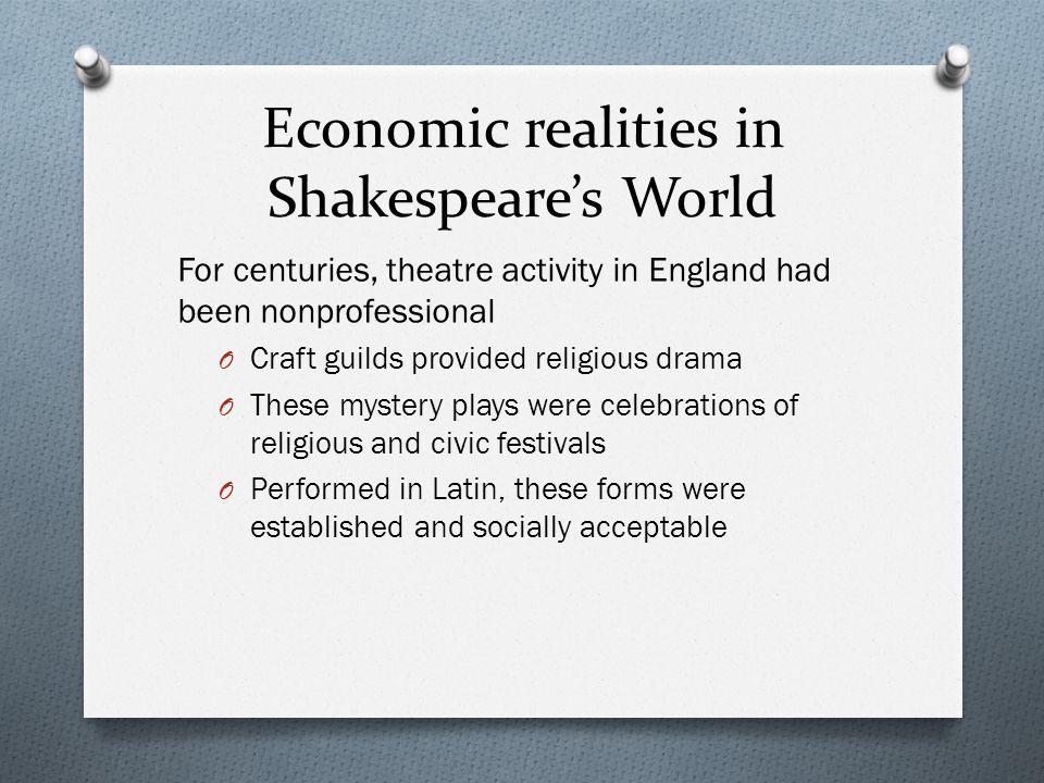 Economic realities in Shakespeare's World