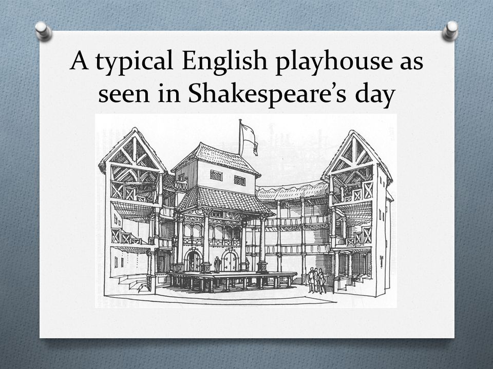 A typical English playhouse as seen in Shakespeare's day