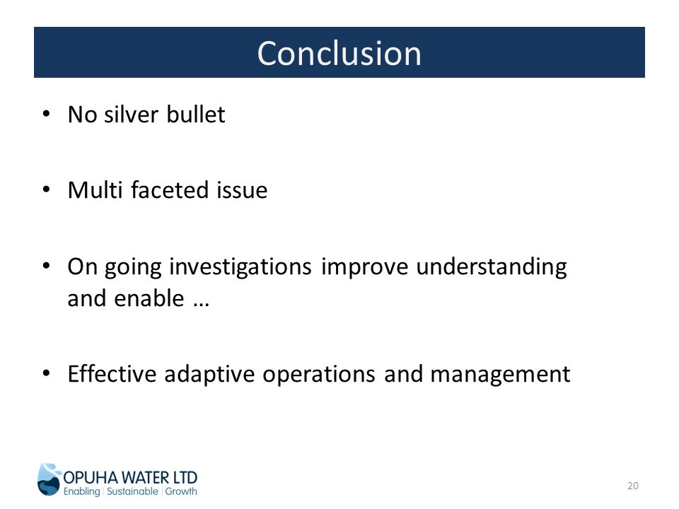 Conclusion No silver bullet Multi faceted issue