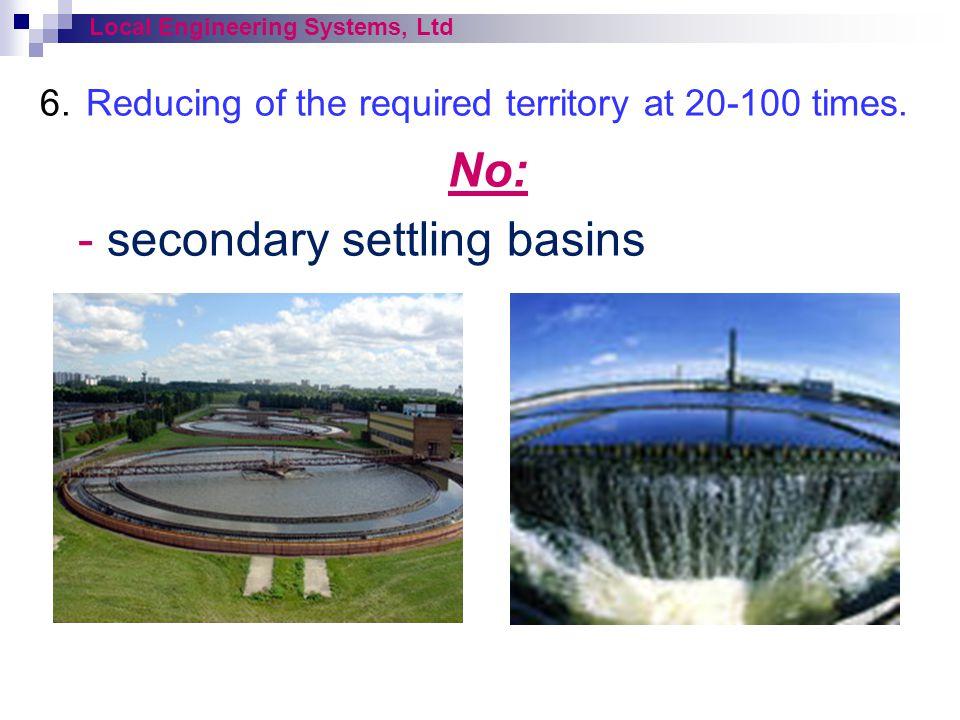 - secondary settling basins