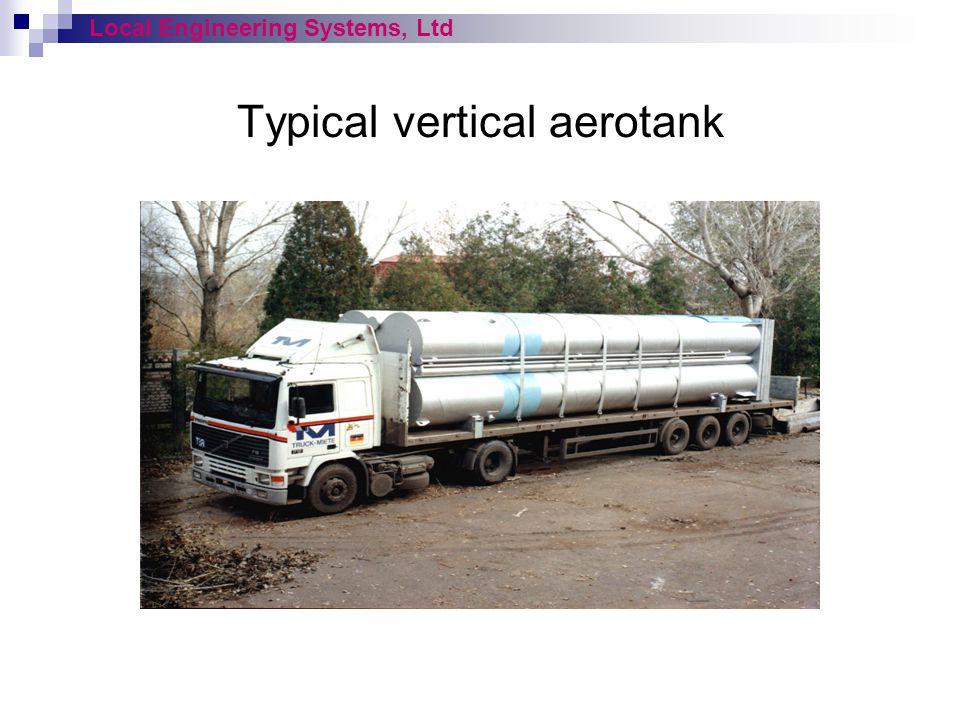 Typical vertical aerotank