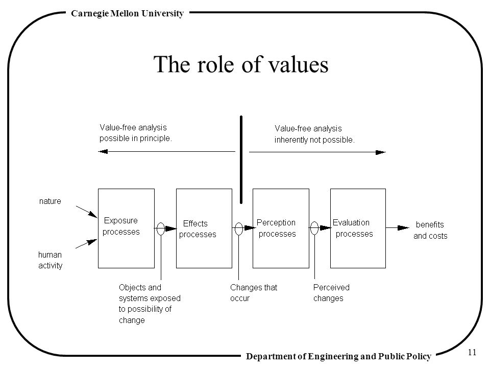 The role of values