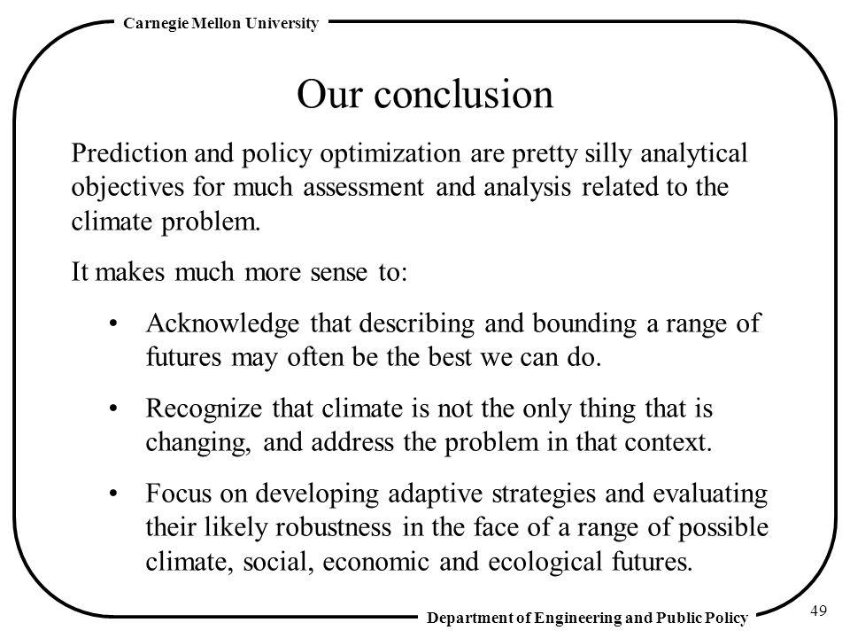 Our conclusion