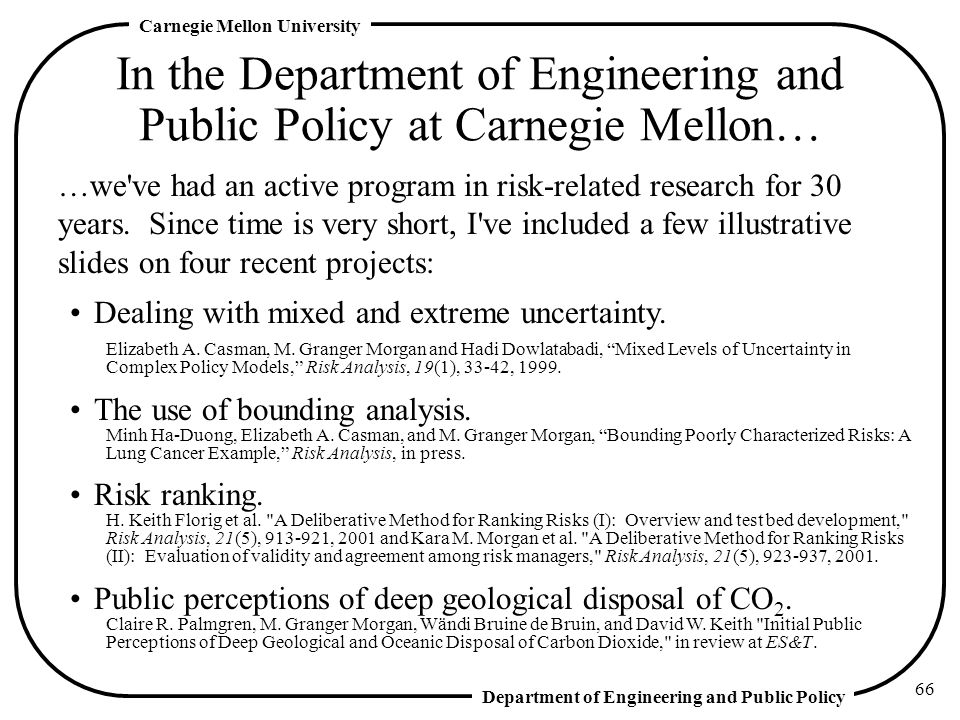 In the Department of Engineering and Public Policy at Carnegie Mellon…