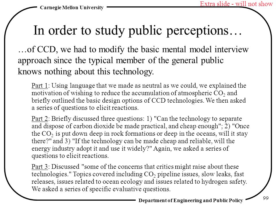 In order to study public perceptions…