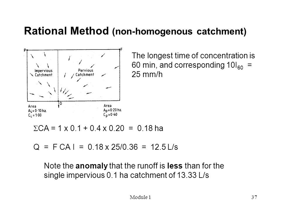 Rational Method (non-homogenous catchment)